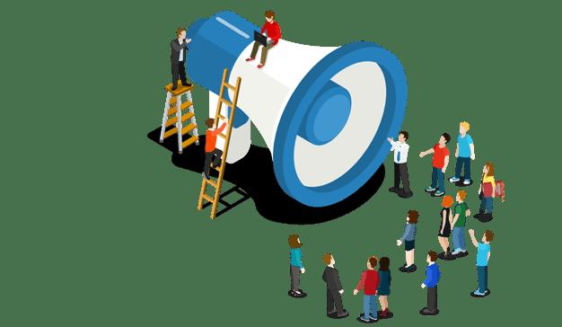 El marketing social puede servir de megáfono para car voz a muchas personas.